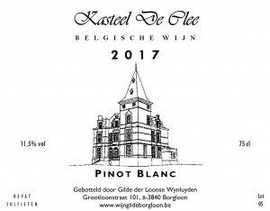De Clee Pinot Blanc (2017)